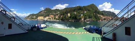 Veerpont Menaggio Bella Villetta Chalets verhuur 15 min uitstapje