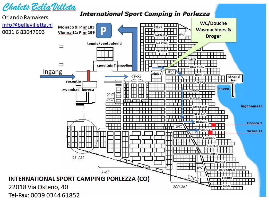 Camping International Porlezza - Bella Villetta