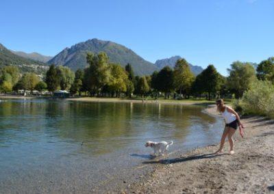 Porlezza Panama Beach hond chaletverhuur Bella Villetta Italië