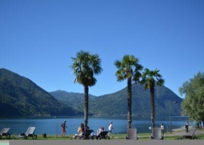 Porto Leatizia Porlezza Lungolago Boulevard chaletverhuur Bella Villetta Italië Palmbomen