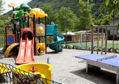 Speeltuin camping International in Porlezza bij Bella Villetta chaletverhuur
