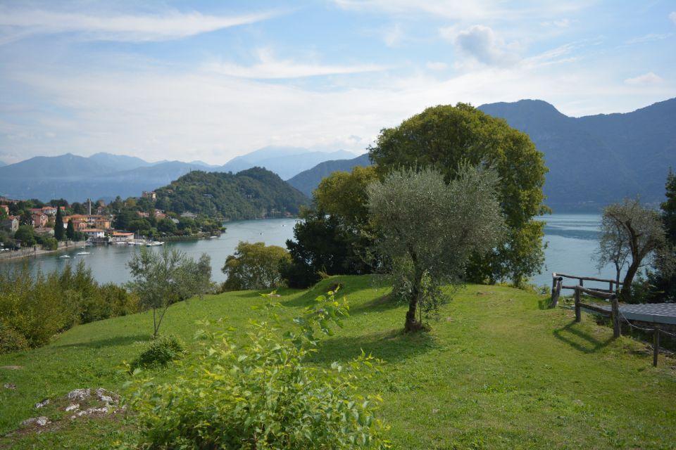 uitzicht vanaf Isola Comacina over het comomeer, chaletverhuur bellavilletta,Porlezza